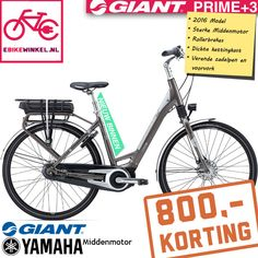 Nu bij ebikewinkel.nl deze zeer scherp geprijsde Giant Bicycles Prime E+3 met #middenmotor voor maar 1599,-!! Bekijk de #actie snel op: https://www.ebikewinkel.nl/catalogsearch/result/?q=prime+e%2B3  #aanbieding #fiets #ebike #zomer #buitenleven #lekkerweer #nieuw