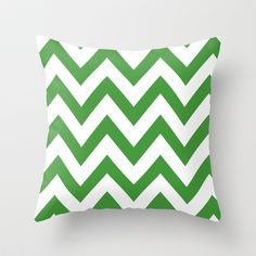UNT MEAN GREEN CHEVRON Throw Pillow by nataliesales - $20.00