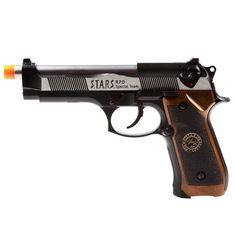 WE-Tech Resident Evil Samurai Edge Chrome FPS-290 Blowback Green Gas Airsoft Pistol