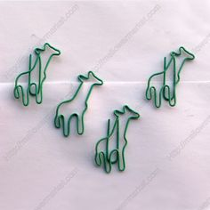Shaped Paper Clips | Giraffe,Animal | Cute Bookmarks (1 dozen/lot,37*30 mm)