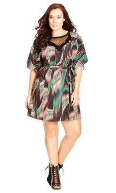 City Chic Sheer Tribal Tunic - Women's Plus Size Fashion City Chic - City Chic Your Leading Plus Size Fashion Destination #citychic #citychiconline #newarrivals #plussize #plusfashion