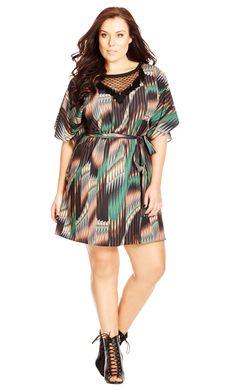 City Chic Sheer Tribal Tunic - Women's Plus Size Fashion City Chic - City Chic Your Leading Plus Size Fashion Destination #citychic #citychiconline #newarrivals #plussize #plusfashion