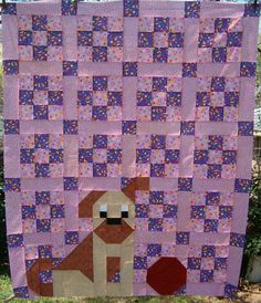 dog quilts | There's a Dog on my Quilt