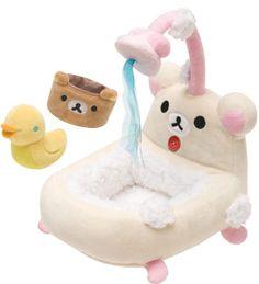 Korilakkuma bath time plushies