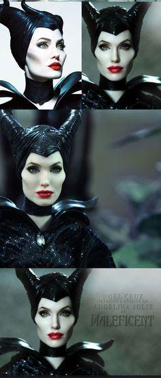 Its a Doll!     ::||www.ncruz.com::||      Angelina Jolie as MALEFICENT by Noel Cruz