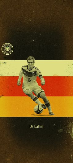 The Guardian - World Cup Show 2014 by Jon Rogers, via Behance --- Philipp Lahm Football Icon, Retro Football, Football Photos, World Football, Germany National Football Team, Germany Football, Lionel Messi, Philipp Lahm, Dfb Team
