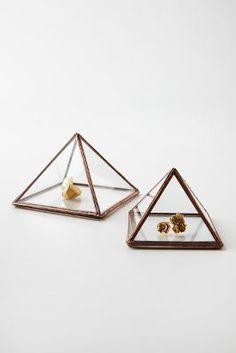 Anthropologie Ibi Pyramid Ring Box