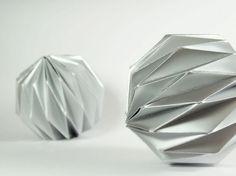 Origami christmas ball ornaments!