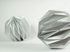 Origami christmas ball ornaments!