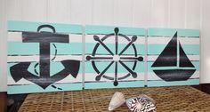 Nautical Sign Set by MeetMeByeTheSea on Etsy