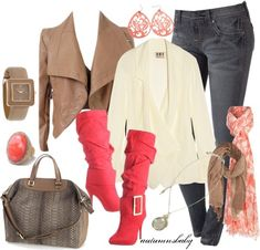 23 Spring Trendy Polyvore Combinations......if ever there existed a pair of boots to be in love with..its these...