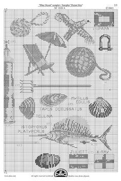 El blog de Dmc: Diagramas de punto de cruz marítimos