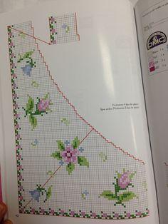 Cross Stitch Rose, Cross Stitch Patterns, Diy And Crafts, Shabby Chic, Chart, Elsa, Roses, Bath Linens, Craft