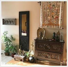 Indian Inspired decor from the home of Sanjhukta Das. (Image Credit: Samjhukta Das)