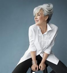 PERFECTION!  Image result for Lisa Carvalho, VP of PR for Maybelline; This Is What 60 Looks Like