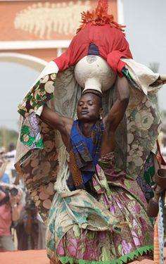 Africa | A Voodoo worshipper dances during the annual Voodoo Festival in Ouidah, Benin, on Jan. 10, 2013. | © AP Photo/Sunday Alamba