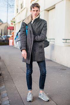Les street looks des mannequins de la Fashion Week homme automne-hiver 2015-2016 43