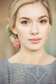 Love this bridal look! Try Ilia lip gloss in The Butterfly and I for similar lip
