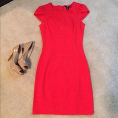 H&M Sheath Dress - Red REPOSH - Super sexy ! Bright red sheath dress! Perfect for work or a night out.  I wanted this to fit so badly, but didn't work out . Dress is in great/perfect condition. H&M Dresses