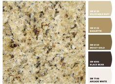 Earthy granite countertops