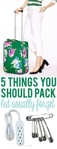 5 things that you SHOULD BE PACKING, but usually forget!