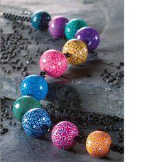 Collier Perles de canes en Pâte Fimo