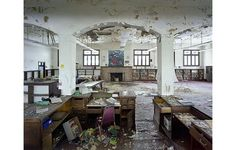 """'St Christopher House, ex-Public Library. From the book """"The Ruins of Detroit"""" by Yves Marchand and Romain Meffre.'"""