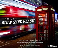 Use a Slow Sync Flash for More Creative Photography Lighting. Flash photography can make for very cool effects when used properly. Flash Photography Tips, Photography Challenge, Photography For Beginners, Photography Business, Photography Tutorials, Creative Photography, Photography Filters, Photography Lighting, Aperture And Shutter Speed