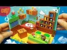 Luigi Mario, Mario Bros, Mario Birthday Party, Birthday Parties, Super Mario Room, Mario Crafts, Miniature Rooms, Fun Crafts For Kids, Diy Dollhouse