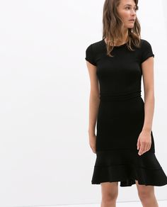 Image 2 of DRESS WITH LAYERED SKIRT from Zara