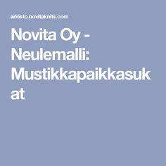 Novita Oy - Neulemalli: Mustikkapaikkasukat