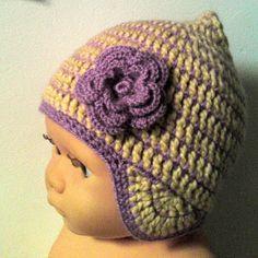 mevr. Snoeshaan: Mijn haakpatronen Crochet Baby Hats, Crochet For Kids, Free Crochet, Knit Crochet, Crochet Doll Clothes, Crochet Dolls, Baby Born Clothes, Cute Hats, Headbands