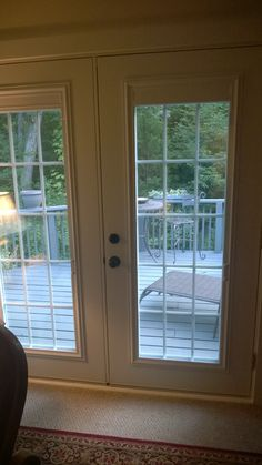 New French doors to my deck