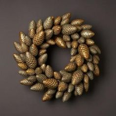 pine cone wreath by cinddy