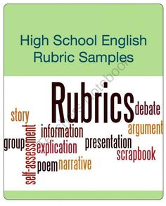High School English Rubric Sampler from Open Classroom on TeachersNotebook.com (4 pages)  - This rubric sampler includes two CCSS aligned writing rubrics including a holistic narrative writing rubric (grades 11-12) and an analytic argumentative writing rubric (grades 9-10). Enjoy!
