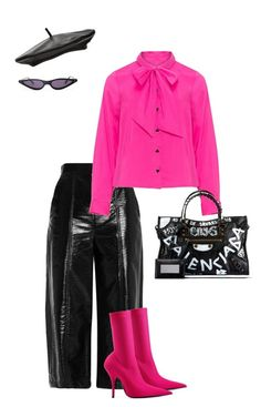 """""""#9 IS THIS HOT (PINK) ENOUGH FOR YOU"""" by alondradt on Polyvore featuring MSGM, Balenciaga and Witchery"""