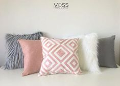 Cute Pillows, Diy Pillows, Decorative Pillows, Cute Room Ideas, Cute Room Decor, Deco Pastel, Gold Bedroom Decor, Gris Rose, Colourful Cushions