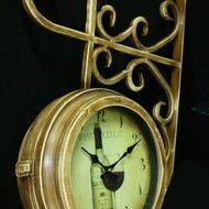 "Ceas de gara ""Wine Cellar"" - Ceasuri retro Wine Cellar, Retro, Pocket Watch, Clock, Accessories, Home Decor, Riddling Rack, Watch, Decoration Home"