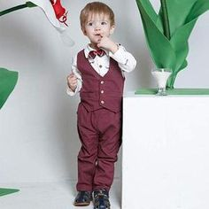 A blend of cotton and polyester onesie. Breathable, soft, comfortable, and skin-friendly for children and a perfect holiday present for any occasion. 1st Birthday Pictures, 1st Birthday Outfits, Baby 1st Birthday, Bow Tie Shirt, Bow Ties, Gentleman, Kids Suits, How To Look Handsome, New Year Gifts