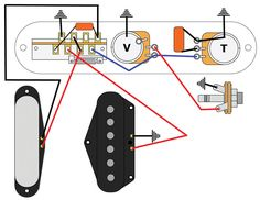 guitar wiring diagram 2 humbuckers 3 way toggle switch 1 volume 0tone. Black Bedroom Furniture Sets. Home Design Ideas