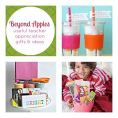 Beyond Apples - Useful Teacher Gifts and Ideas...... Destiny's teacher is so Damn lucky to have a student's mom like me lmao!!!