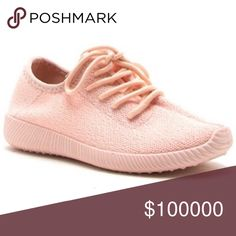 Pink Knit Tennis Shoes! PRICE IS FIRM! Pink!! Brand New! Shoes Sneakers