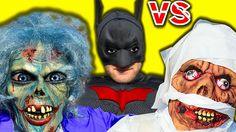 Zombie and Mummy attack on Batman Castle! SuperHero Movies IRL