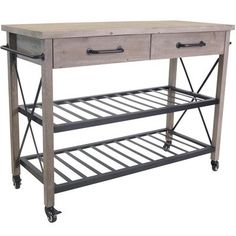 In Home Furniture Style Industrial Kitchen Cart Trolley & Reviews | Temple & Webster