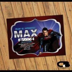 12 best superman invitations images superman invitations superman rh pinterest com