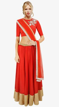 Image from http://www.indiabazaaronline.com/product_images/d/565/fashionable-red-cotton-silk-and-net-a-line-lehenga-choli-suudl3413__35899_zoom.jpg.