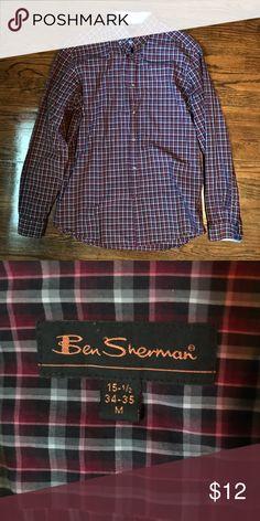 Ben Sherman Plaid Button-down. Ben Sherman Button-down. 15 1/2 neck. 34-35 sleeves. Ben Sherman Shirts Casual Button Down Shirts