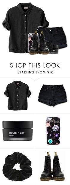 """""""and felled in the night»by the ones you think you love»they will come for you"""" by flowercrownqueen666 ❤ liked on Polyvore featuring Margaret Howell, Levi's, Koh Gen Do, Nikki Strange, Miss Selfridge and Dr. Martens"""