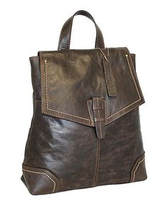 Loving this Chocolate Samba Leather Backpack on #zulily! #zulilyfinds