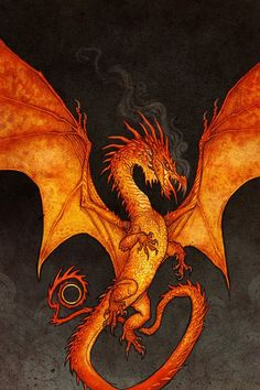 """""""Cover art by Johan Egerkrans for the 2019 Swedish editions of J. Tolkien's The Hobbit, The Lord of the Rings & The Silmarillion. Jrr Tolkien, Tolkien Books, Fantasy Creatures, Mythical Creatures, Fairytale Creatures, Smaug Dragon, Dragon Thigh Tattoo, Dragon Pictures, Pop Culture Art"""